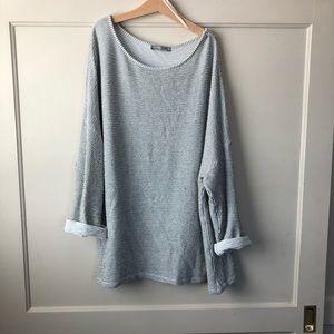 Textured Zara drop shoulder top